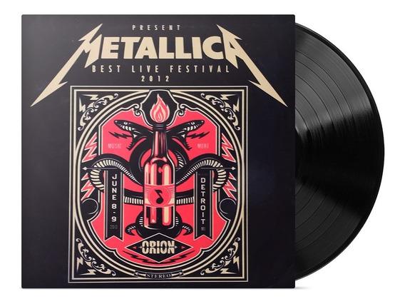 Metallica Best Live Festival 2012 Disco Vinilo Sellado Nuevo