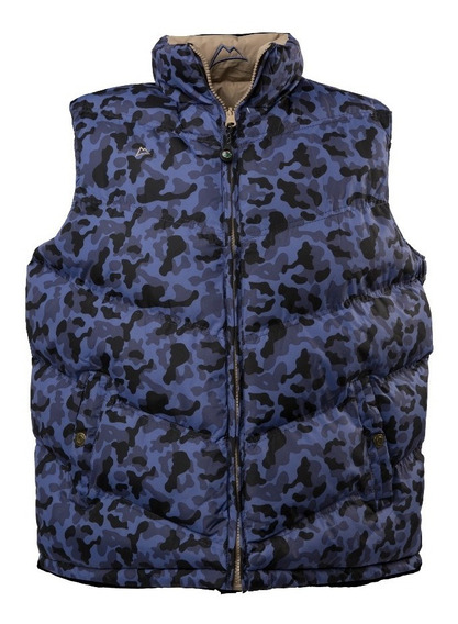 Chaleco Icy Denver Doble Vista Ve120517 Camuflaje Navy