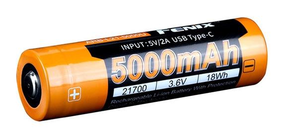 Bateria Fenix 21700 5000 Mah 3,6v Usb Tipo C P/ Pd36r Tk22