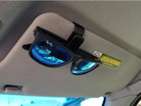 Kit 2 Porta Óculos Veicular Suporte Quebra Sol