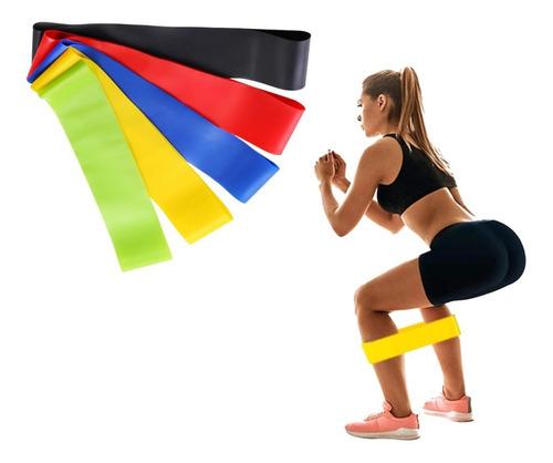 Imagem 1 de 9 de Kit 5 Faixas Elásticas Theraband Execicios Fisioterpia Yoga