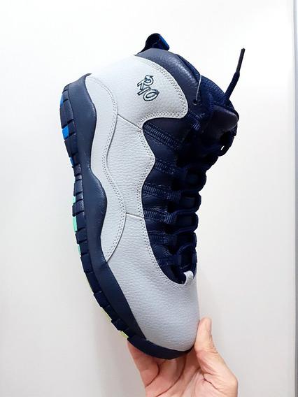 Tênis Nike Air Jordan 10 Retro Rio Basquete Casual Original N. 41 (9.5 Usa) E 43 (11 Usa)