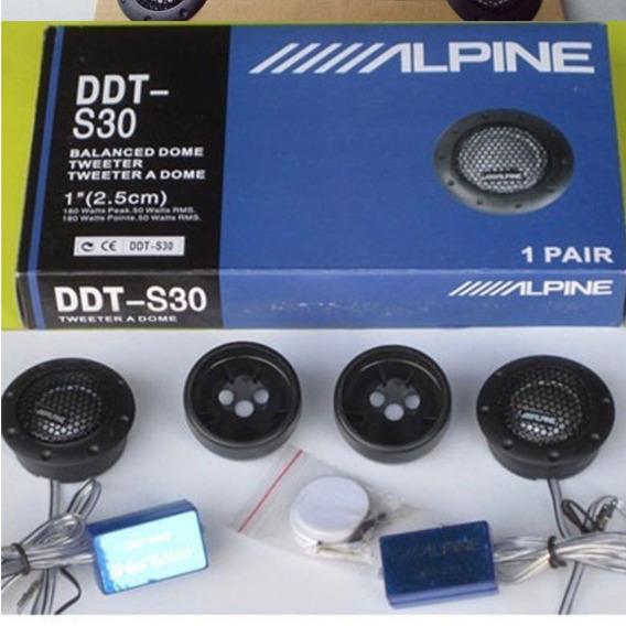 Tweeter Alpine Ideal Com Alto Falante Pioneer Mid Bass Tsm8