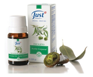 Just - Aceite Esencial De Eucalipto - 10ml - Respirar+regalo