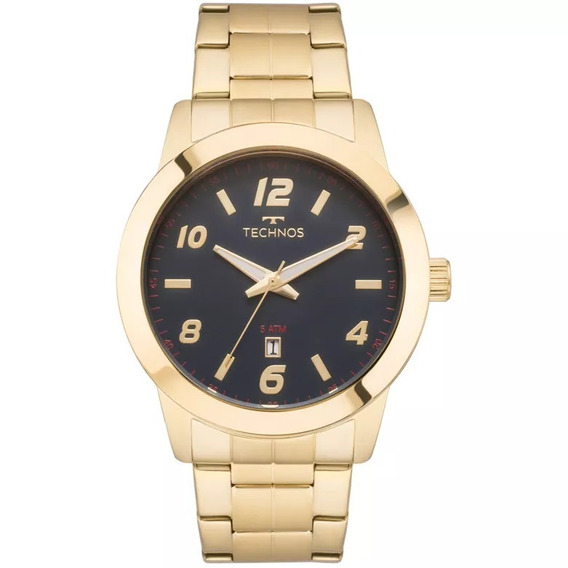 Relógio Technos Masculino 2115mok/4a Racer Dourado