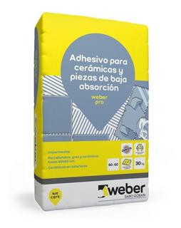 Pegamento Para Porcelanato Weber Col Pro Bolsa X 30kg
