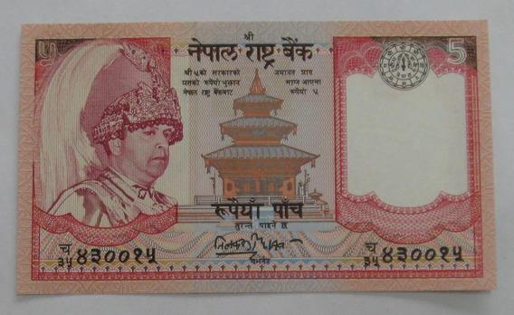Nepal: Bela Cédula 5 Rupees 2005 Fe