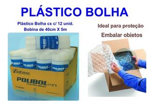 Plástico Bolha 5m X 40cm Cx C/ 12 Unid. Para Ecommerce