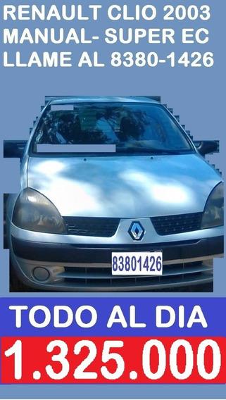 Renault Clio 2003 Hb Manual.disponib:.1.325.000 Al 8380-1426