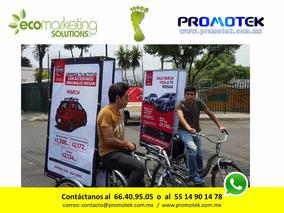 Renta De Bicicletas Publicitarias, Bicivallas, Walking Board