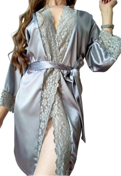 Bata Satín Kimono