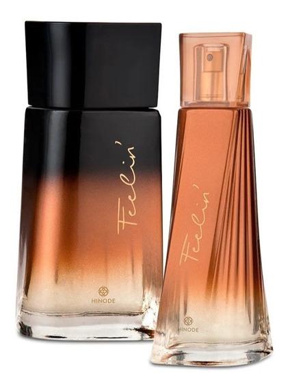 Kit Perfumes 1 Feelin P/ Ele & 1 Feelin P/ Ela - Hinode