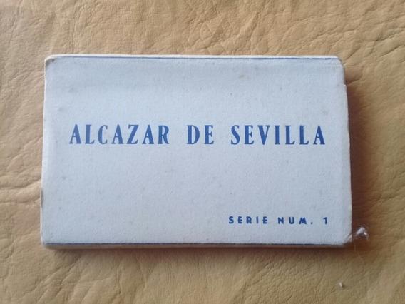 Tarjeta Postal - Minilibro Alcázar De Sevilla - España