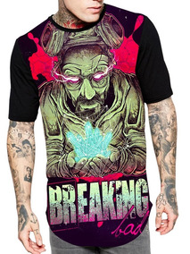 Camiseta Longline 3d Full Unissex Roupa Breaking Bad Ref.236