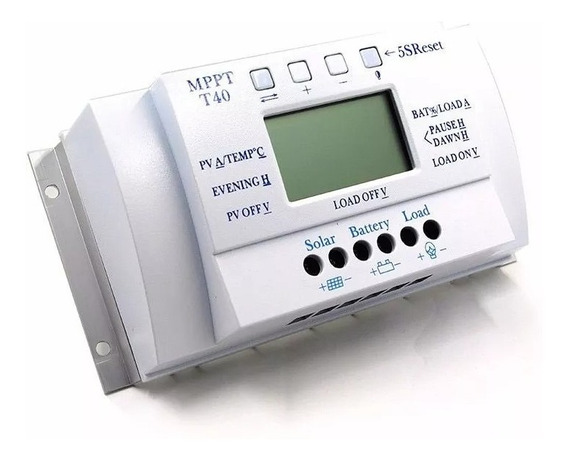 Controlador De Carga Solar 40a Mppt 12v 24v
