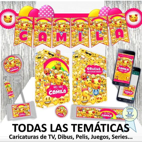 Combo Cotillón 30 Bolsitas 150 Stickers Banderín Invitación