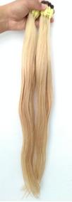 Cabelo Humano Loiro Liso P/mega Hair 60 A 65 Cm 50 Gramas