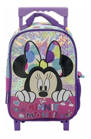 Mochila Minnie Mouse Con Carrito 12 Pulgadas Jardin Original