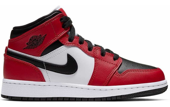 Nike Air Jordan 1 Mid Chicago Black Toe 9 Us