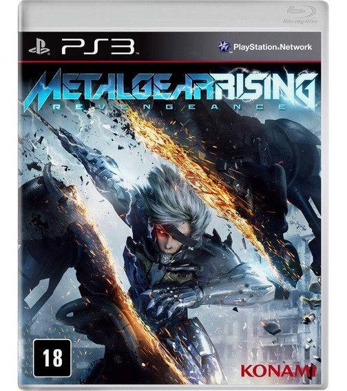 Jogo Metal Gear Rising Ps3 Game Mídia Física Lacrado Play 3