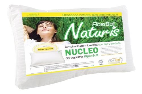 Imagen 1 de 6 de Almohada Fiberball Naturis 70x45 Núcleo Espuma Hipersoft