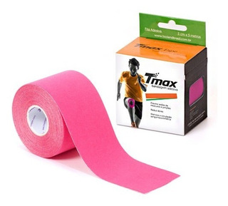 Bandagem Elástica Adesiva Funcional Kinesio Tmax Rosa Anvisa