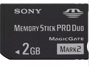 Cartão De Memória Sony Stick Pro Duo Mark2 2gb Ms-mt2g