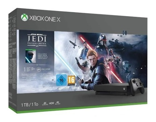 Xbox One X 1tb+jogo Star Wars Nfe 1ano De Garantia