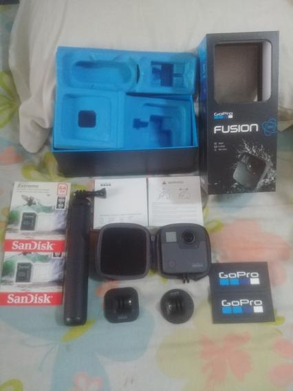 Camera Go Pro Fuzion 360 + 2 Cartões 64gb