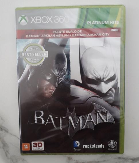 Batman Arkham Asylum + Arkham City - Xbox 360 Fisica - Novo
