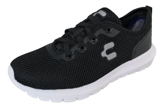 Tenis Charly Hombre 1029144 H Negro Textil Deportivo Running