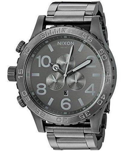 Relógio G0440 Nixon Chumbo / Pulseira Aço C/ Caixa