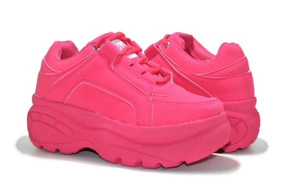 Tênis Sneaker Buffalo Feminino Oferta Ganhe Um Brinde
