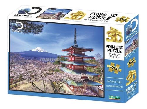 Imagen 1 de 6 de Puzzle Rompecabezas 3d 1000 Piezas Monte Fuji Japon Prime 3d
