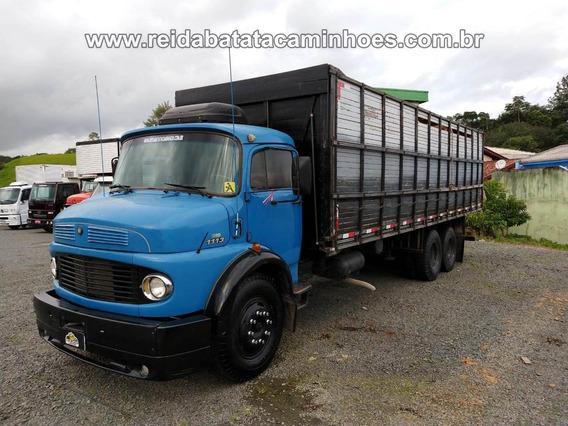 Mercedes-benz 1113 Turbo Truck Gaiola Boiadeira Imperatriz !