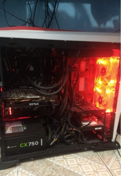 Pc Gamer I7 8700k + Wc H80i + Z370xp + Gtx 1070 + 16gb Ram