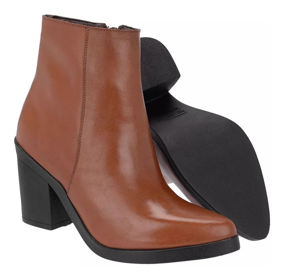 Bota Cano Curto Feminina Couro - Encinas Leather 90017