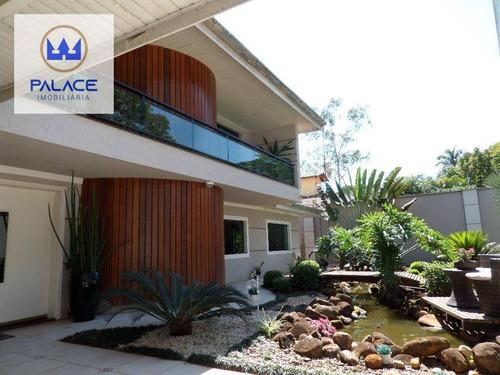 Chácara Com 5 Dormitórios À Venda, 1020 M² Por R$ 1.900.000,00 - Santa Rita - Piracicaba/sp - Ch0019