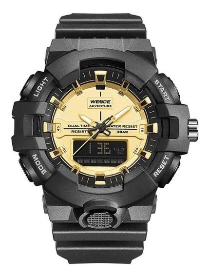 Relógio Masculino Weide Wa3j8006 - Estilo Militar - Preto