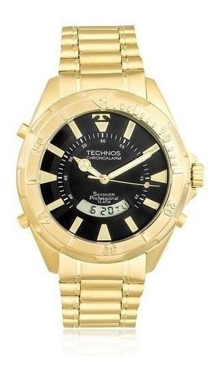 Relógio Masculino Technos Skydiver Dourado T205fl/4p