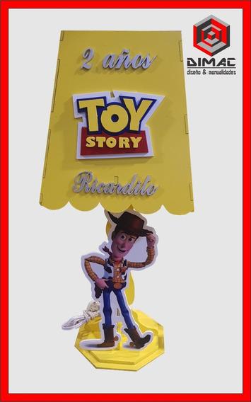 5 Lamparas, Centro Mesa Mdf Toy Story Personalizado