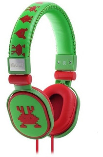 Audifonos Diadema P/niño Popper Martian Verde Moki Acc Hppof