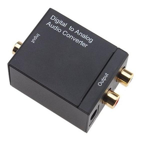 Adaptador Ótico Toslink E Coaxial Digital Para Rca Analogico