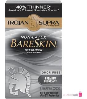 Condones Sin Látex Trojan Supra Bareskin Lubricados X6