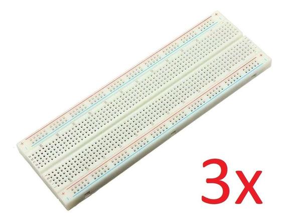 3 X Protoboard 830 Furos