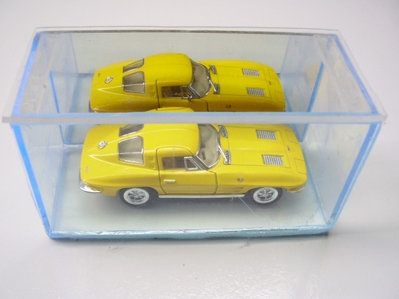 Carrinho Kinsmart Corvette Sting Ray 1963 Escala 1:36