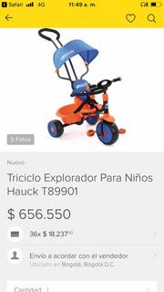 Triciclo Marca Hauck
