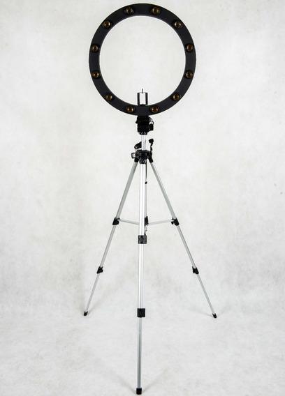 Ring Light Iluminador Selfie 12 Soquetes + Lâmpadas