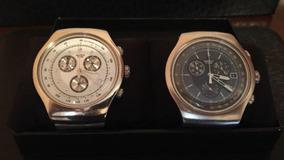 Relógio Swatch Wealthy Star Caixa Branca E/ou Preta