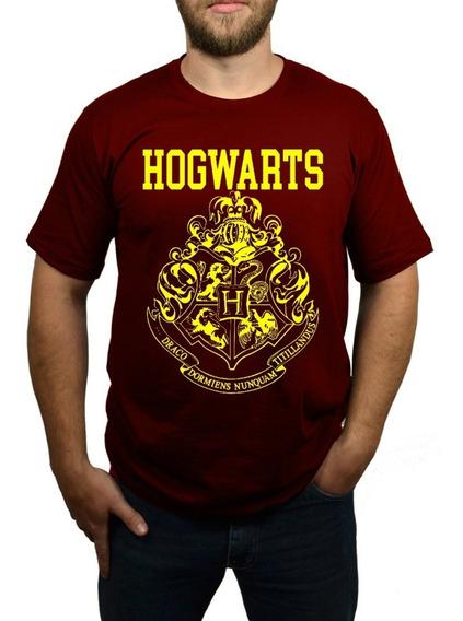 Camiseta Hogwarts - Harry Potter - Vinho
